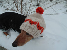 Load image into Gallery viewer, Fox hat for small dog dachshund - dachshundknit