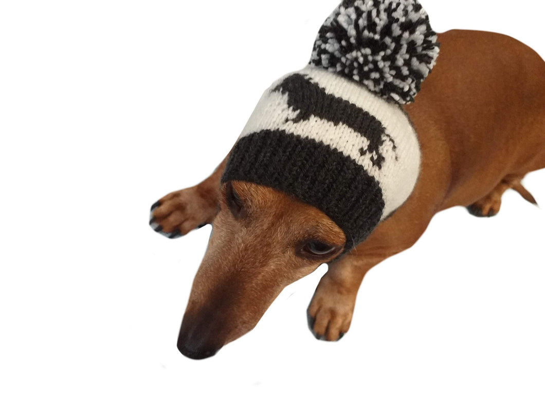 Handmade dachshund hat knitted for dogs - dachshundknit