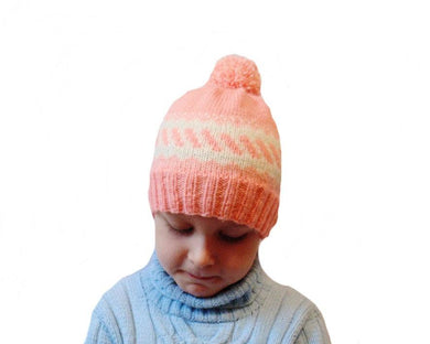 Handmade knitted hat children cap is made for 4-7 years - dachshundknit