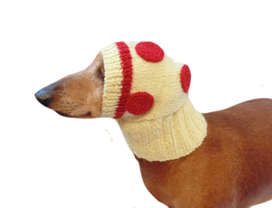 Hat dog pizza, hat pizza for small dog - dachshundknit
