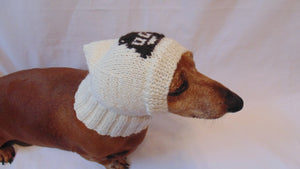 Hat for dog funny poop, warm winter hat for small dog - dachshundknit