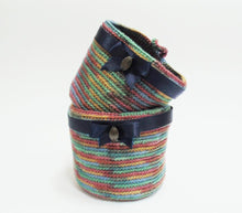 Load image into Gallery viewer, Knitted basket, basket for pencils. Basket for trifles - dachshundknit