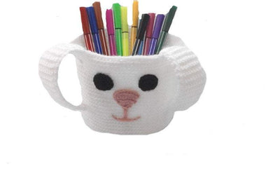Knitted basket bunny, basket for pencils. Basket for trifles - dachshundknit