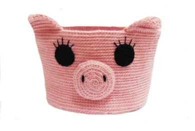 Knitted basket piggy, basket for pencils. Basket for trifle - dachshundknit