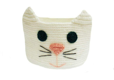 Knitted basket,cat, basket for pencils. Basket for trifles - dachshundknit