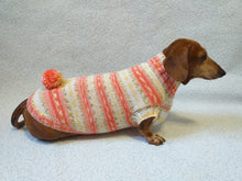 Load image into Gallery viewer, Knitted clothes dachshund sweater with pompom, dachshund clothes, dachshund sweater, doxie clothes - dachshundknit