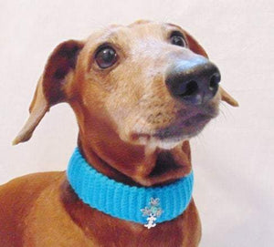 Knitted collar for dog cat,collar  for dog cat, knitted collar for dog - dachshundknit