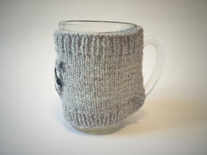 Knitted cup sweater, cup cover, cup insulation - dachshundknit