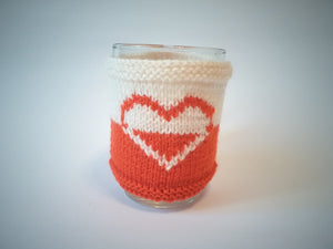 Knitted cup sweater, cup cover, cup insulation, cup cover - dachshundknit