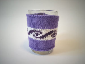 Knitted cup sweater, cup cover, cup insulation, cup cover. - dachshundknit
