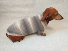 Load image into Gallery viewer, Knitted gray sweater for small dog - dachshundknit
