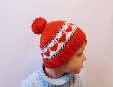 Knitted hat fox cap is made for a boy of 4-7 years - dachshundknit