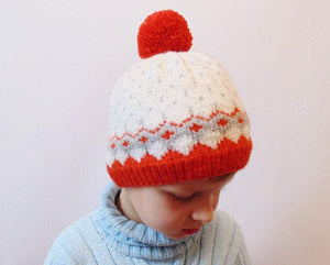 Knitted hat, winter hat, hat with a pompon - dachshundknit