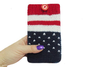 Knitted phone case,Phone Case, Smartphone Case,iPhone Casee - dachshundknit