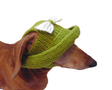 Load image into Gallery viewer, Knitted summer panama for dog, panama for dachshund, summer hat for dog - dachshundknit