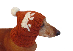 Knitted winter hat with bears for dachshund dogs - dachshundknit