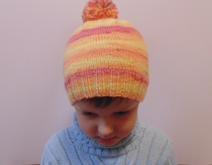 Knitted winter warm hat universal size child, woman, teenager
