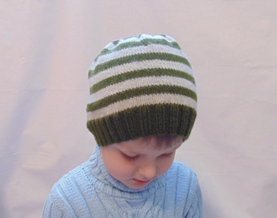 Knitted striped hat universal size child, woman, teenager