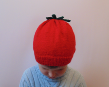 Load image into Gallery viewer, Knitted hat tomato universal size child, woman, teenager