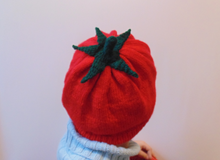 Load image into Gallery viewer, Women's knitted hat tomato, knitted hat for teenager tomato