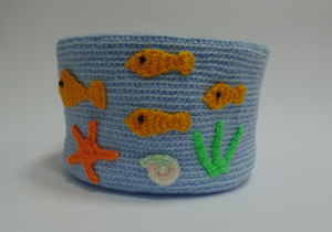 Knitted basket sea voyage