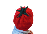 Women's knitted hat tomato, knitted hat for teenager tomato
