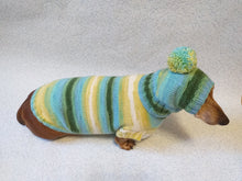 Load image into Gallery viewer, Set sweater and hat for dogs, sweater and hat for dachshunds, clothes for dogs, clothes for dachshunds - dachshundknit