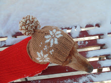 Load image into Gallery viewer, Small dog hat, pet clothes, dog hat, winter hat, dachshund hat - dachshundknit