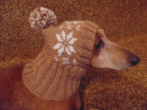 Small dog hat, pet clothes, dog hat, winter hat, dachshund hat - dachshundknit