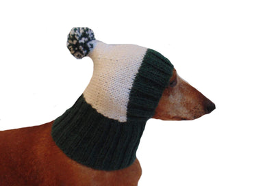 Warm hat for dog or cat, hat for a dog, hat for dachshund - dachshundknit