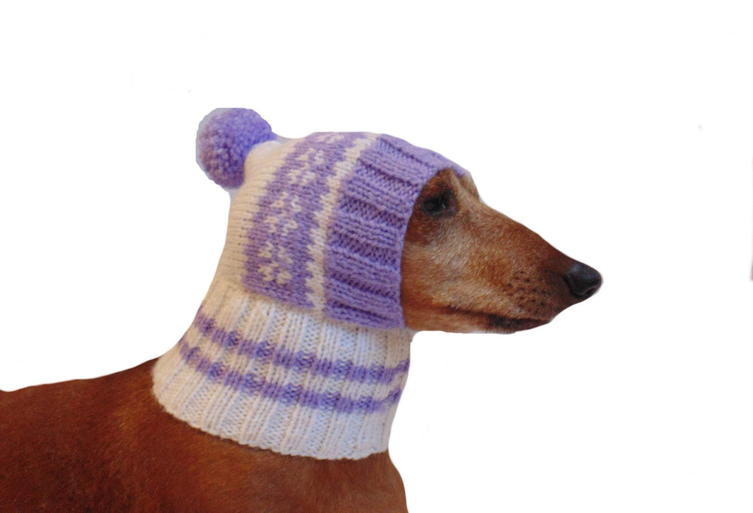 Warm hat for small handmade dogs - dachshundknit