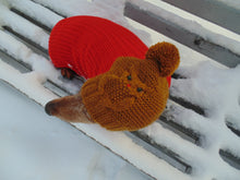 Load image into Gallery viewer, Winter clothes for dogs knitted hat owl - dachshundknit