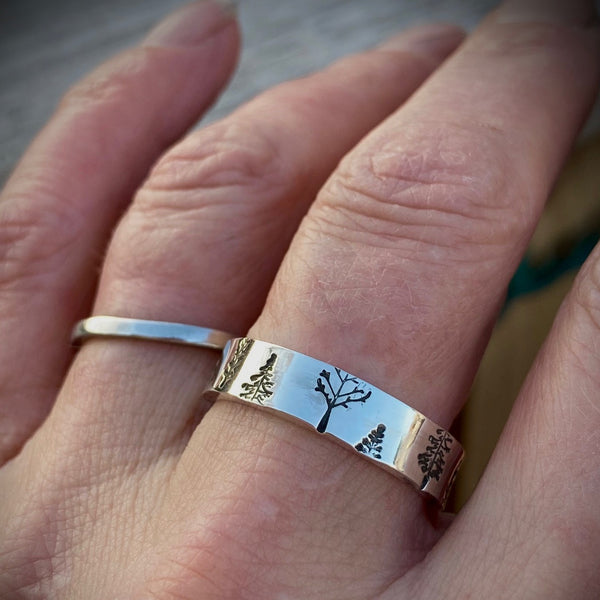 One Trees Ring shown on finger