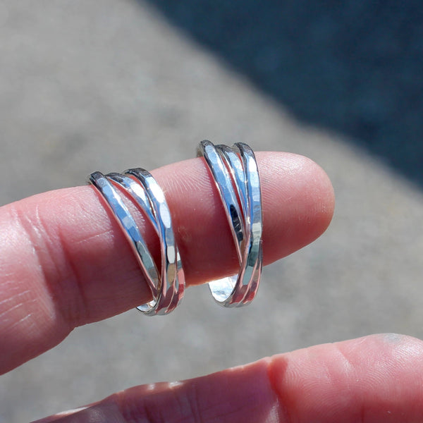 Triple Ring in Silver Roll on Fidget Ring