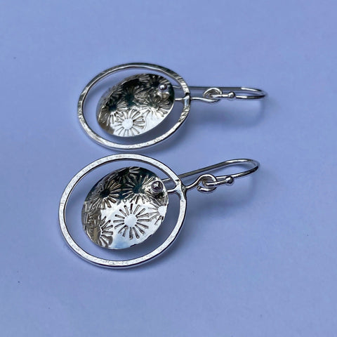 Floating Dome Circle Earrings