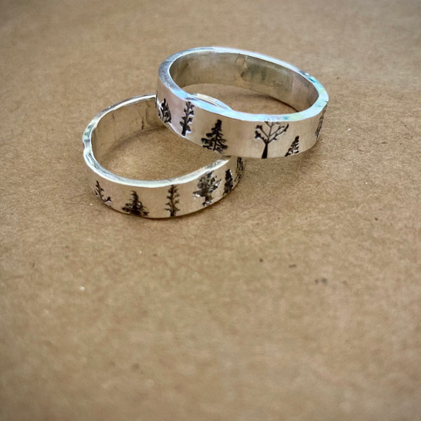 Two Trees Rings in silver