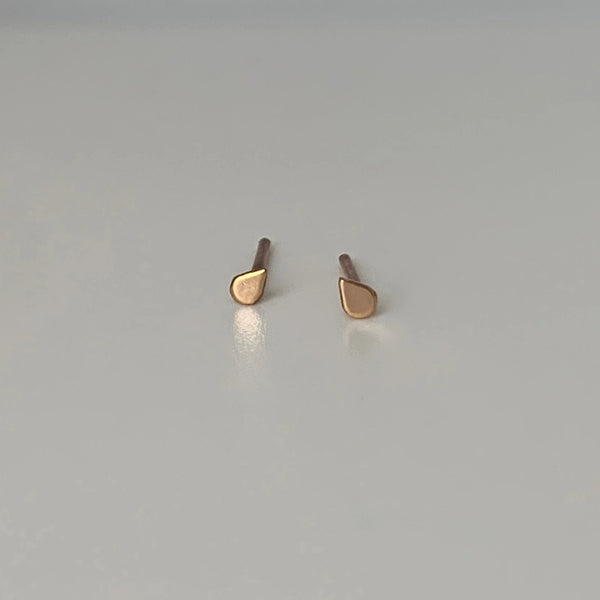 Teardrop Tiny Post Earrings
