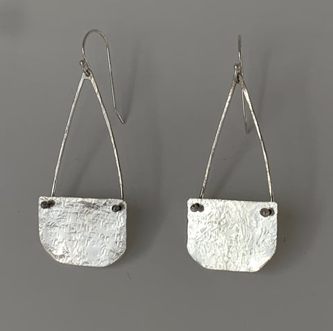 Silver Purse Earrings