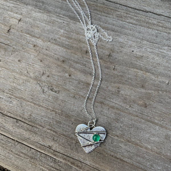 Mended Heart with Emerald