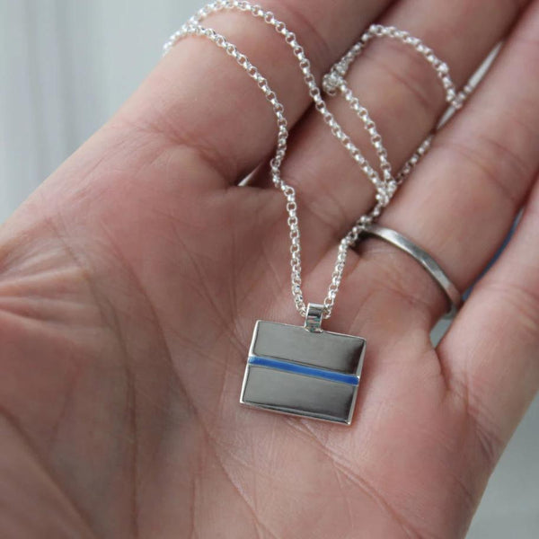 Thin Blue Line Pendant