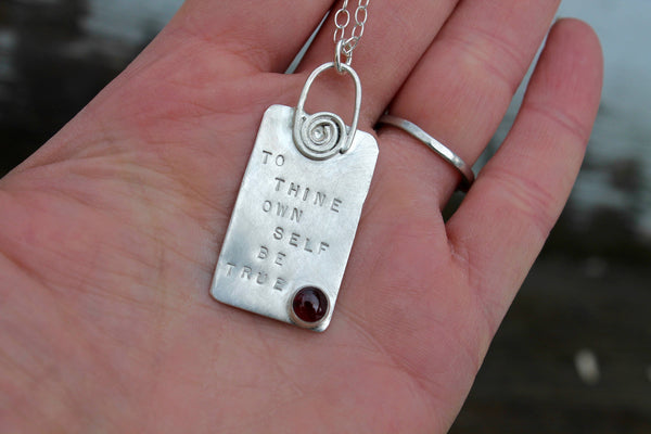 To Thine Own Self Be True Shakespeare Necklace