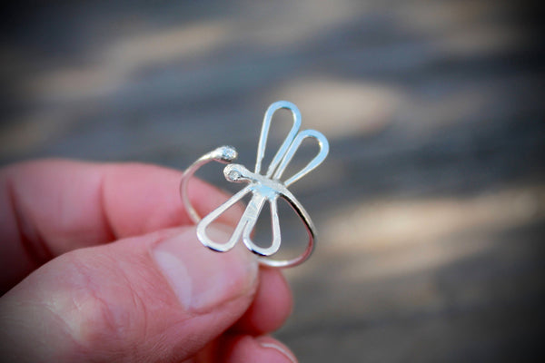 Silver Dragonfly Rings