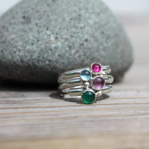 Multi-Stone or Birthstone Ring in Silver