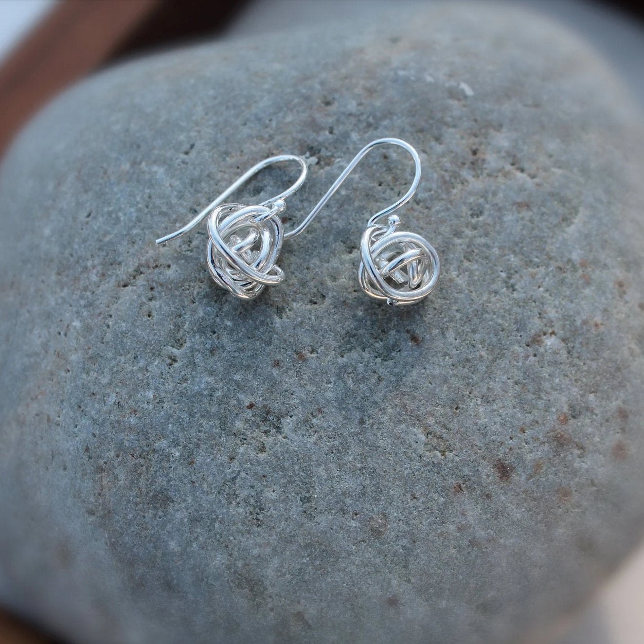 Tumbleweed Knot Earrings in Sterling Silver