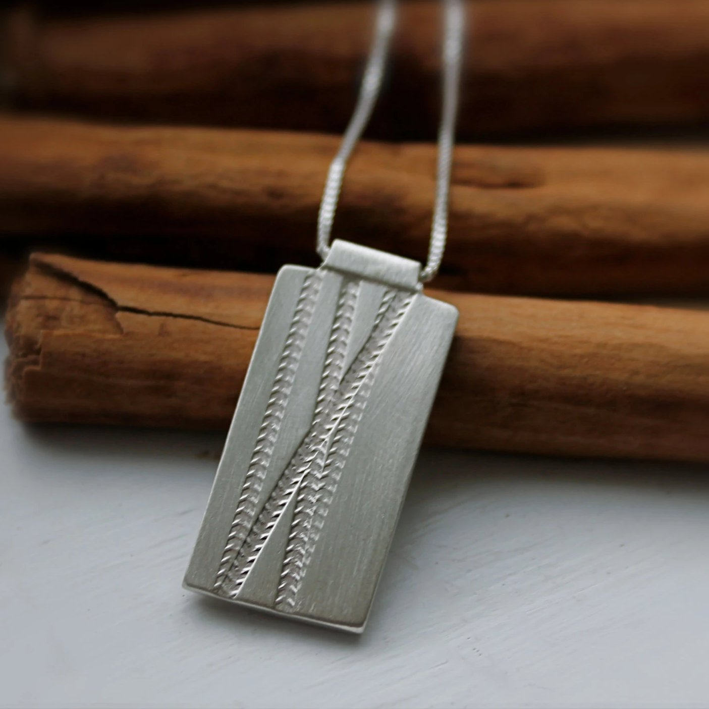 Mountain and Road Bike Silver Necklace
