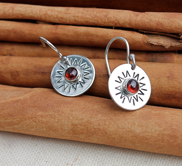 You Are My Sunshine Silver and Stone Earrings