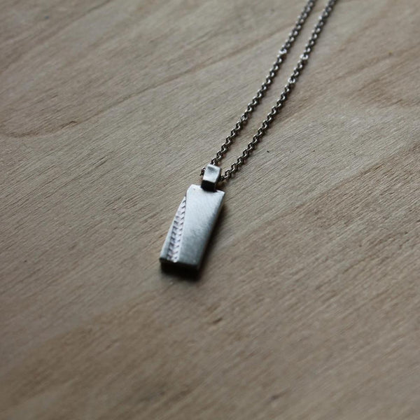 Mini Bike Track Necklace in Silver