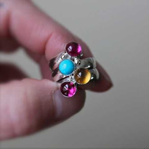 Birthstone Ring Fairy Tale Ring Multi-stone