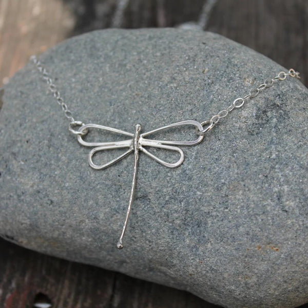 Dragonfly Necklace in Silver