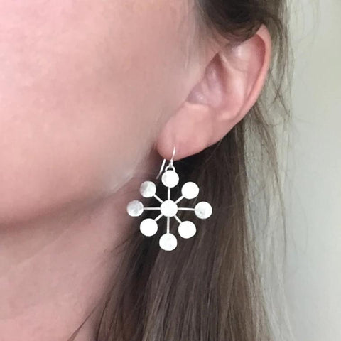 Starburst Earrings in Silver